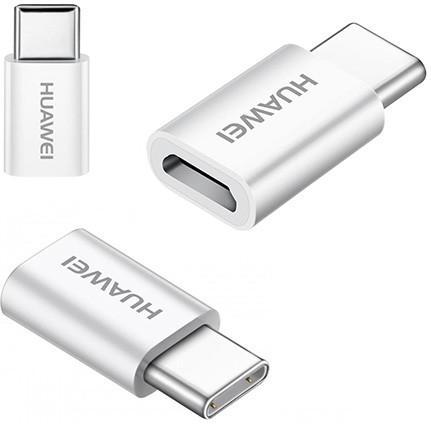 Huawei P10 Micro-USB naar USB-C Converter Origineel Wit