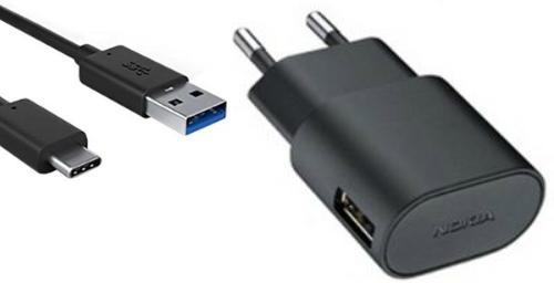 Oplader Nokia USB-C 2 Ampere 100 CM - Origineel - Zwart
