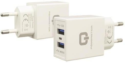 Snellader Powerstar 2 in 1 Micro-USB 2.4 Ampère - Wit