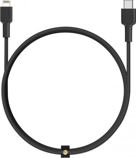 Aukey USB-C naar Lightning kabel - Zwart - 1.2m