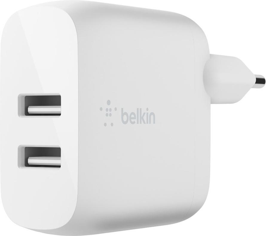 Belkin Dual USB-A  Adapter - 24 Watt - Wit