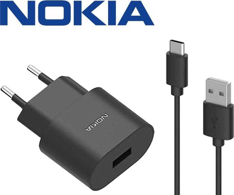 Nokia 8 Fast Charger - Origineel - 3A USB-C - 1 Meter
