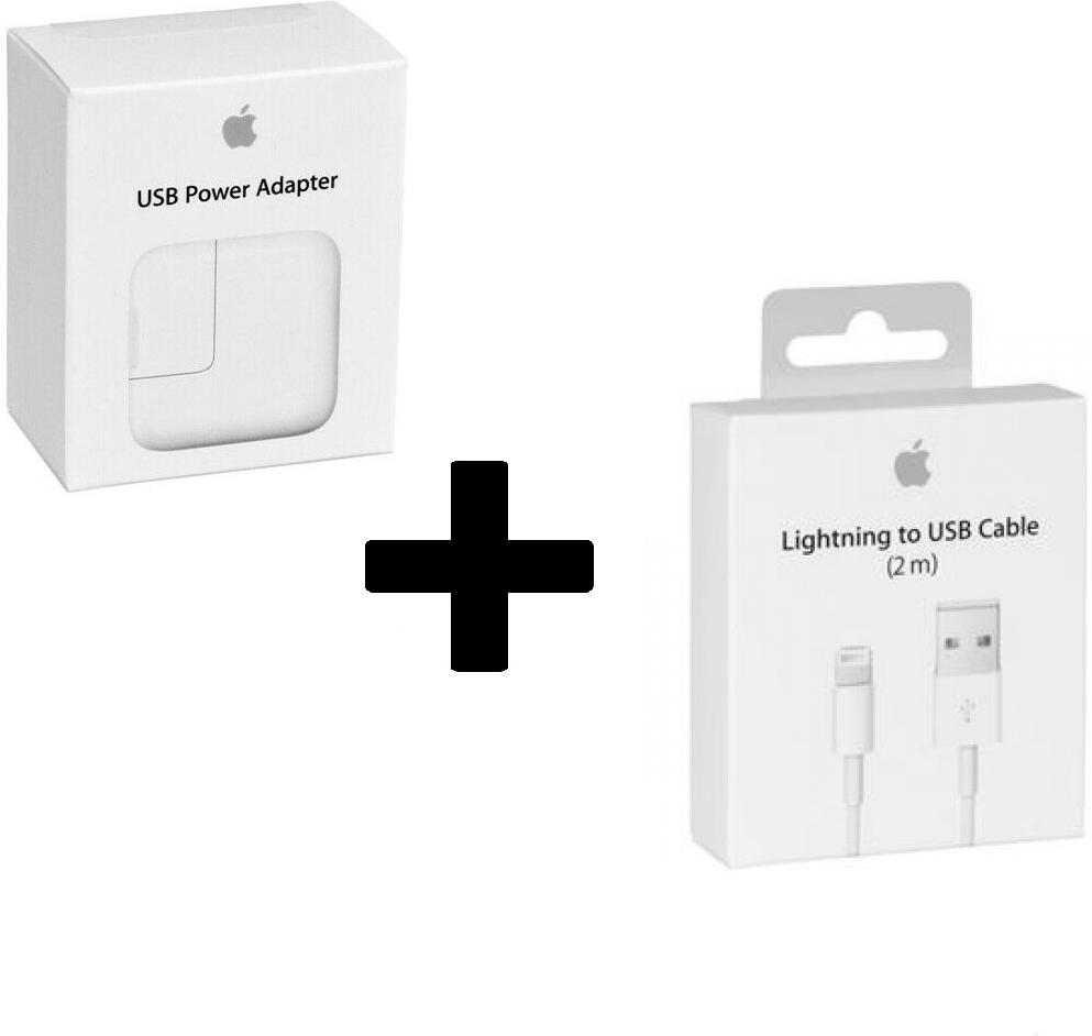 Apple iPad Air Oplader -  Origineel Retailverpakking - 12 Watt - 2 Meter
