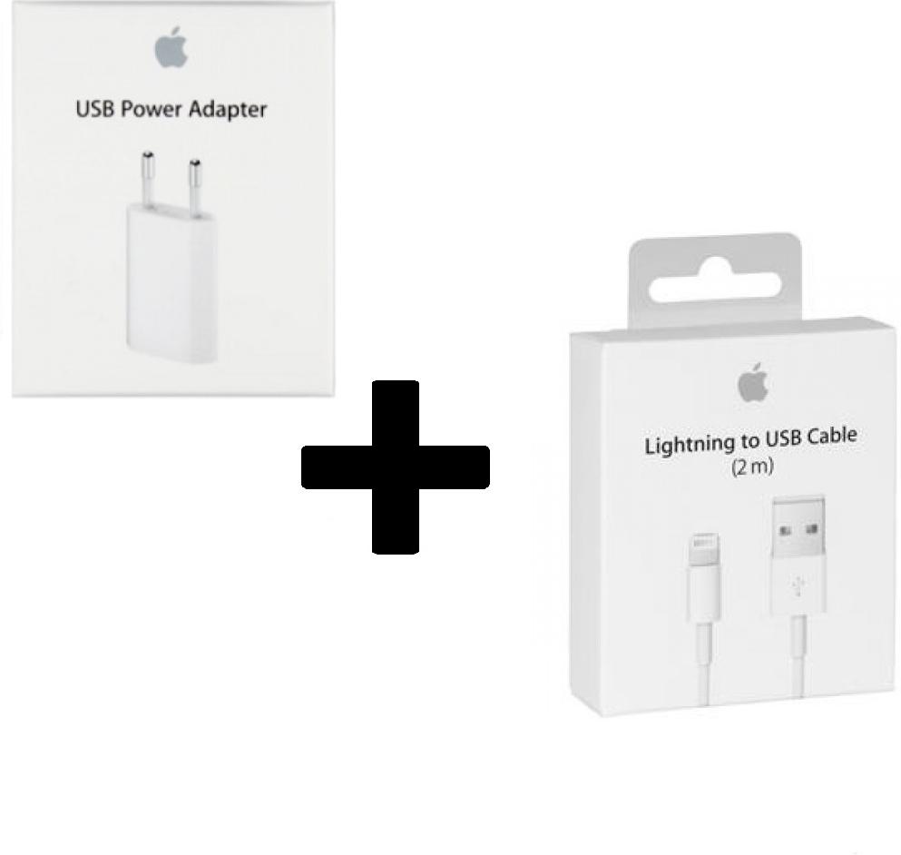 Apple iPhone 6s Oplader - Origineel Reetailverpakking - 5 Watt - 2 Meter