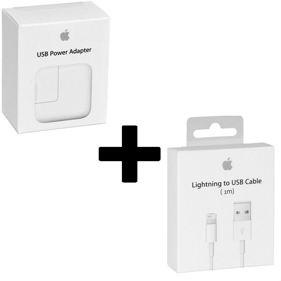 Apple iPhone X Oplader  - Origineel Retailverpakking - 12 Watt - 1 Meter