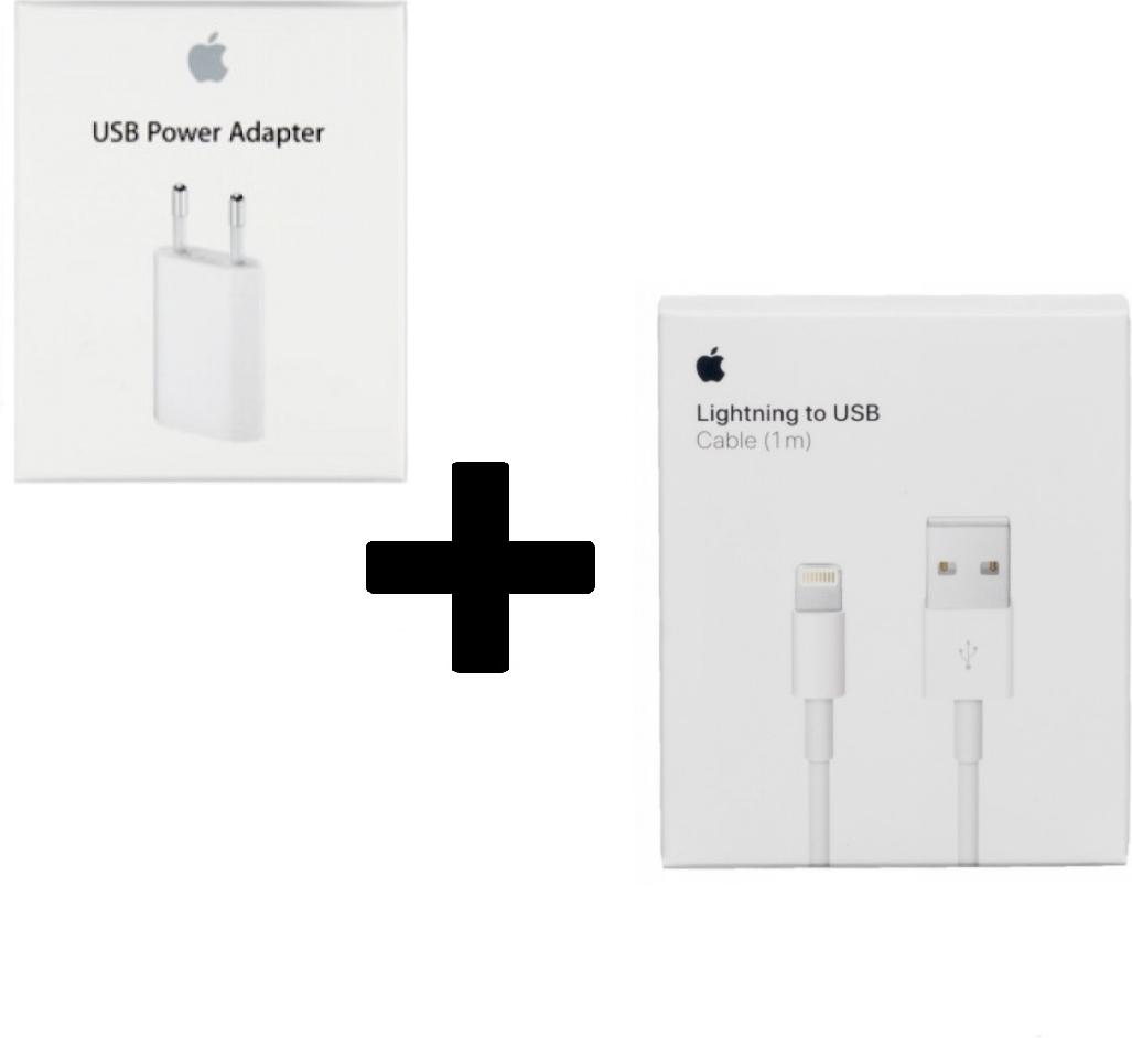 Apple iPhone X Oplader - Origineel Retailverpakking - 5 Watt - 1 Meter