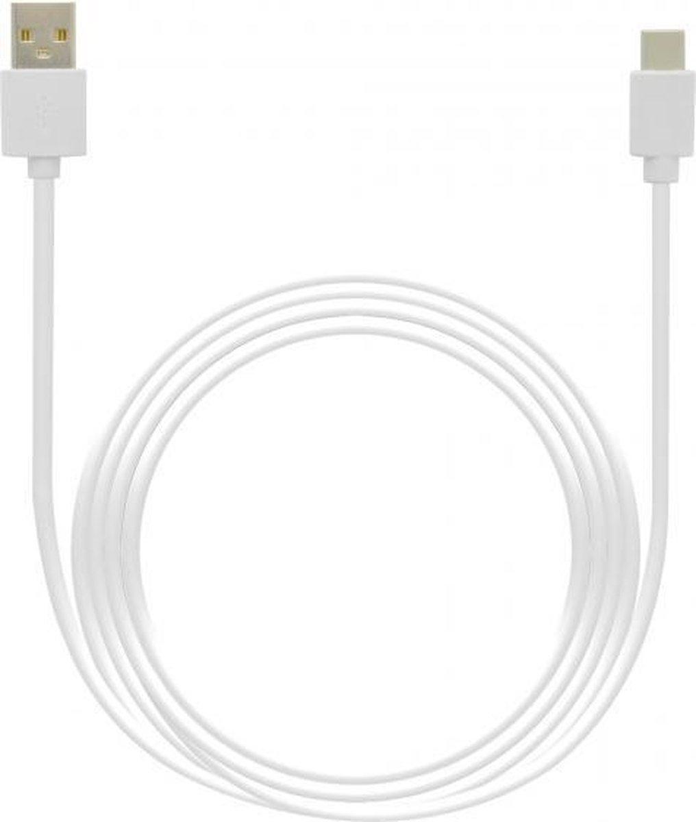 USB-C kabel geschikt voor Blackberry - 3 Meter - Wit